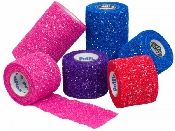An image of Pet-flex 5cm Glitter Assorted (Black Blue Red Purple Pink)
