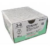 An image of Ethilon 3/0 USP Suture 75cm PS 26mm 3/8 Circle RC Needle (24)