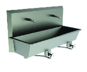 An image of Scrub Sink 2 Station Sinks (Knee Push) Superior quality. Hands Free Operation