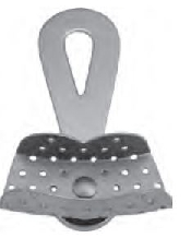 An image of Impression Tray - with swivel handle and fixing screw - perforated