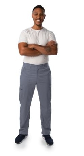An image of PROFLEX Mens Cargo Pants - Large/ Steel Grey