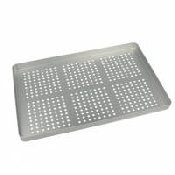 An image of PERFORATED STAINLESS STEEL TRAY. BASE.