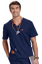 An image of ORANGE BALBOA UNISEX NAVY MULTI POCKET DETAIL SMALL