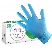 An image of Blue Nitrile Gloves (100)