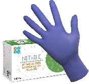 An image of Violet Blue Nitrile Gloves (100) Medium