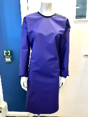 An image of Protective Reusable PURPLE Isolation Gown (5) -Medium