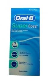 An image of Oral-B Super Floss Mint Dental Floss - 50 Pre-Cut Strands