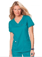 An image of Koi Comfort Nicole Top Turquoise Small