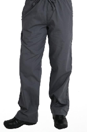 An image of Men's Elastic-Waist Pants Steel S