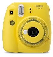 An image of INSTAX MINI 9 CLEAR YELLOW PLUS 10 SHOTS + 3 COLOUR FILTERS