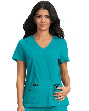 An image of Koi basic becca top Teal Large