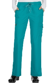 An image of koi holly trousers Teal Large (Regular)