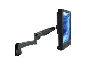 An image of VisionPro 501 series compact gas assisted LCD arm with wall mount fitting black finish