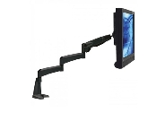 An image of VisionPro 502 series compact gas assisted LCD arm with wall mount fitting black finish