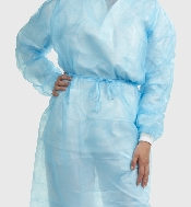 An image of Sterile Standard Gown Light Blue x 50 pack