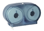 An image of Micro Twin Toilet Roll Dispenser - Blue