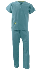 An image of UNISEX REVERSIBLE SCRUB SUIT MID-GREEN M