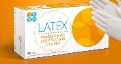 An image of Latex Powder Free White Examination Gloves (100)