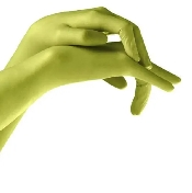 An image of Gloves Latex Powder Free (Lime) Small x 100 box