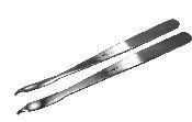 "An image of Bone Lever 16cm (6 1/4"") Width 6mm"