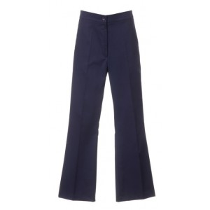 An image of LADIES BOOTCUT TROUSER NAVY SIZE 46LONG