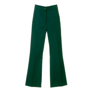 An image of LADIES BOOTCUT TROUSER GREEN & NAVY