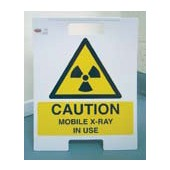 An image of Free Standing Mobile X-Ray Warning Sign