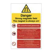 An image of Magnetic Field Warning Sign