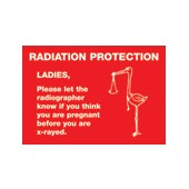 An image of Pregnancy X-Ray Warning Sign