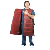 An image of Infab Male Black Belt Full Wrap Apron